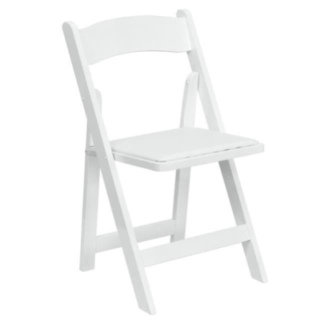 Where to find White Resin Padded Chair in Atlanta