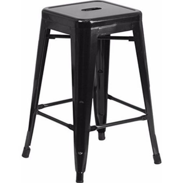 Where to find Black Metal Barstool w o Back in Atlanta