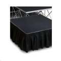 Rental store for Sateen Pleated Stage Skirting in Atlanta GA